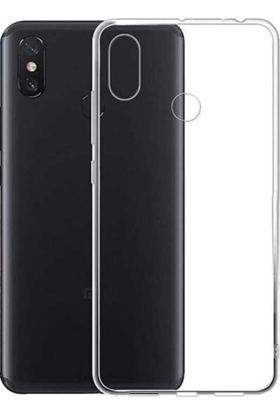 Caseup Xiaomi Mi A2 Lite (Redmi 6 Pro) Kılıf İnce Şeffaf Silikon Beyaz + Nano Cam
