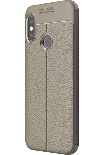 Caseup Xiaomi Mi A2 Lite (Redmi 6 Pro) Kılıf Niss Silikon Gri + Nano Cam