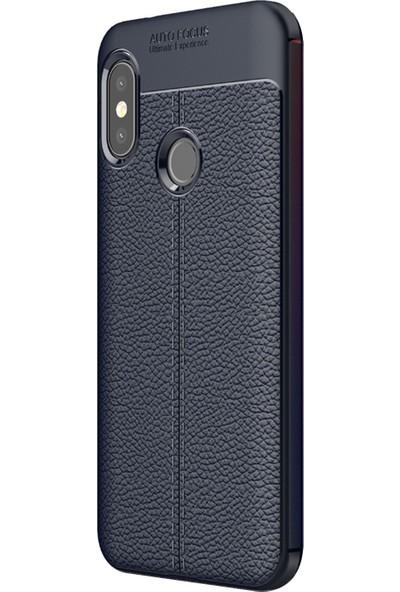 Caseup Xiaomi Mi A2 Lite (Redmi 6 Pro) Kılıf Niss Silikon Lacivert + Nano Cam