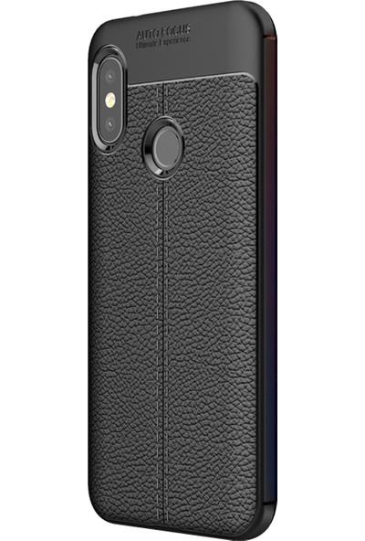 Caseup Xiaomi Mi A2 Lite (Redmi 6 Pro) Kılıf Niss Silikon Siyah + Nano Cam