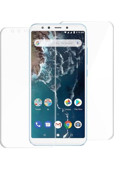 Caseup Xiaomi Mi A2 Lite Kavisli Şeffaf Ekran Koruma Seti - Ön Ve Arka