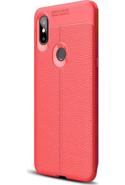 Caseup Xiaomi Mi Mix 3 Kılıf Niss Silikon Kırmızı + Nano Cam