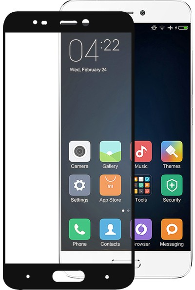 Caseup Xiaomi Mi5 Kavisli Ekran Koruyucu Siyah
