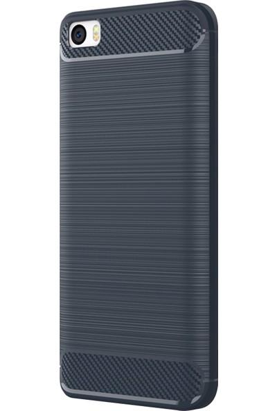 Caseup Xiaomi Mi5 Kılıf Room Silikon Lacivert + Nano Cam