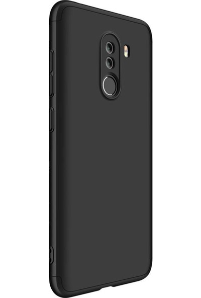 Caseup Xiaomi Pocophone F1 Kılıf Triple Deluxe Shield Siyah + Nano Cam