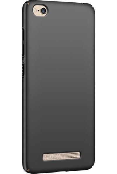 Caseup Xiaomi Redmi 4A Kılıf Rubber Siyah + Nano Cam