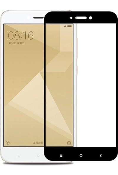 Caseup Xiaomi Redmi 4X Kavisli Ekran Koruyucu Siyah