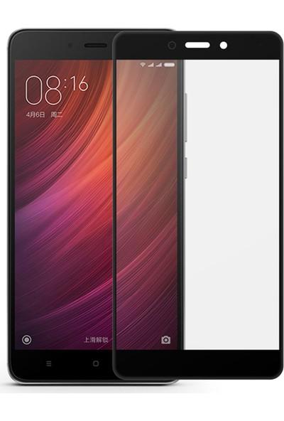 Caseup Xiaomi Redmi Note 4 Kavisli Ekran Koruyucu Siyah