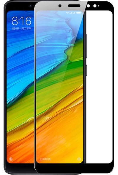 Caseup Xiaomi Redmi Note 5 Kavisli Ekran Koruyucu Siyah