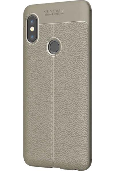Caseup Xiaomi Redmi Note 5 Kılıf Niss Silikon Gri + Nano Cam