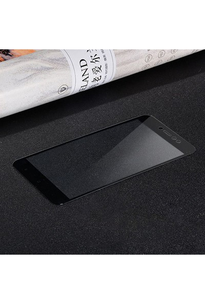 Caseup Xiaomi Redmi Note 5A Prime Kavisli Ekran Koruyucu Siyah