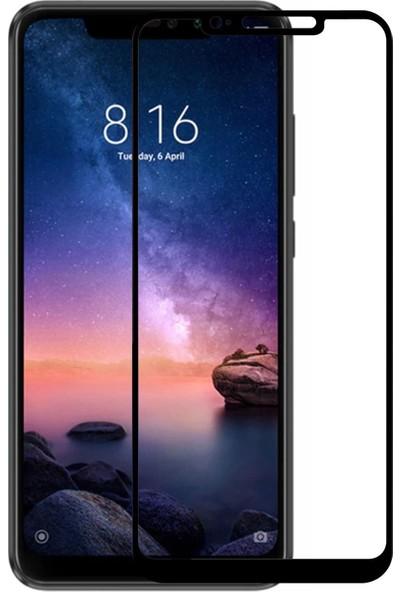 Caseup Xiaomi Redmi Note 6 Pro Kavisli Ekran Koruyucu Siyah