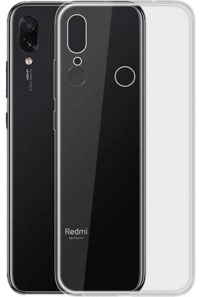 Caseup Xiaomi Redmi Note 7 Pro Kılıf İnce Şeffaf Silikon Beyaz + Nano Cam