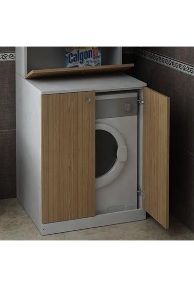 Bmdekor Çamaşır Makinesi Dolabı Poyraz Alt Ceviz