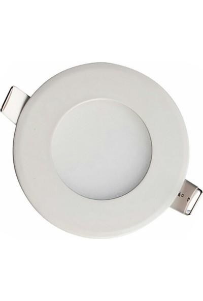 Foblight Led Armatür 3 Watt Beyaz Kasa Beyaz Işık