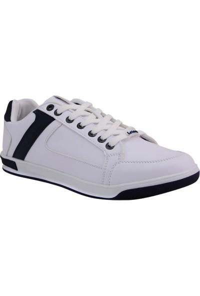 Letoon Beyaz Siyah Erkek Spor Ayakkabı