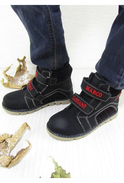 Marco Cassani Siyah Cırtlı Cırtlı Erkek Çocuk Bot
