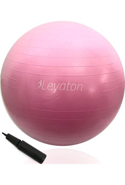 Leyaton Büyük Boy Pilates Topu 75 Cm Pompa Hediyeli