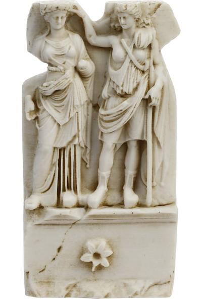 Müzedenal Afrodisias, Aphrodite Ve Andreia Rölyefi 16 CM