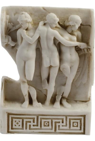Müzedenal Afrodısıas, Üç Güzeller Rölyefi 16 CM