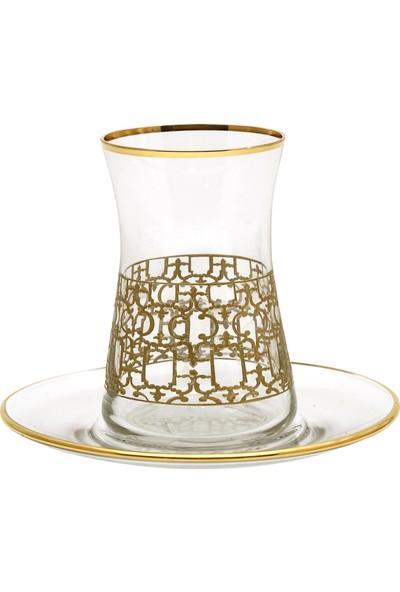 Müzedenal Kadife Kutulu Çay Takımı Latis-İ Harem Koleksiyonu