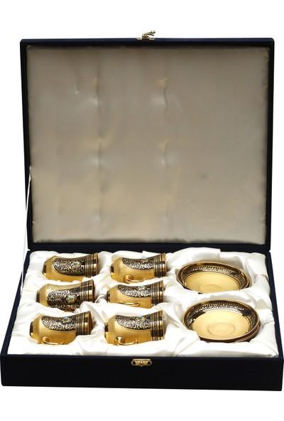 Müzedenal 12 Parça Kulplu Çay Takımı Haseki Sultan Koleksiyonu