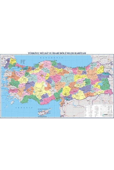 Gürbüz 21023 Türkiye Siyasi Haritası 70 X 100 Cm
