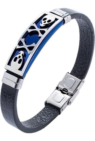 Vipbt Kurukafa Paslanmaz Çelik Saat Yanı Bileklik