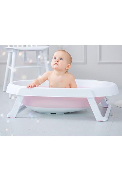 Baby&Plus Katlanabilir Bebek Küveti Pembe