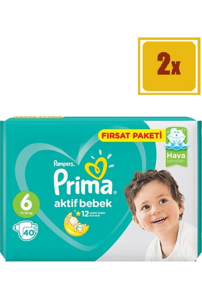 Prima Fırsat Paketi No 6 Extra Large 40'Lı 2'Li Set