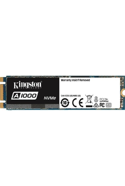 Kingston A1000 480GB 1500MB-1000MB/s PCIe NVMe SSD SA1000M8/480G