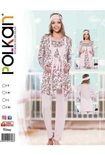 Polkan 13063 Lohusa 3'lü Pijama Takımı