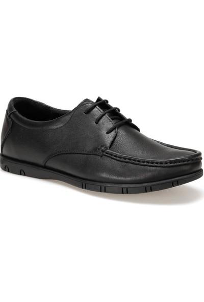 Flogart D-04168-Y C 1494 Siyah Erkek Deri Klasik Ayakkabı