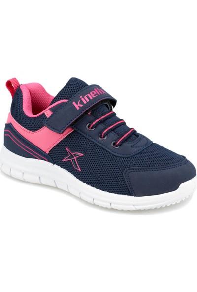 Kinetix Roger Lacivert Neon Pembe Kız Çocuk Koşu Ayakkabısı