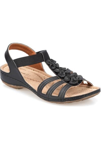 Polaris 91.157362.Z Siyah Kadın Sandalet