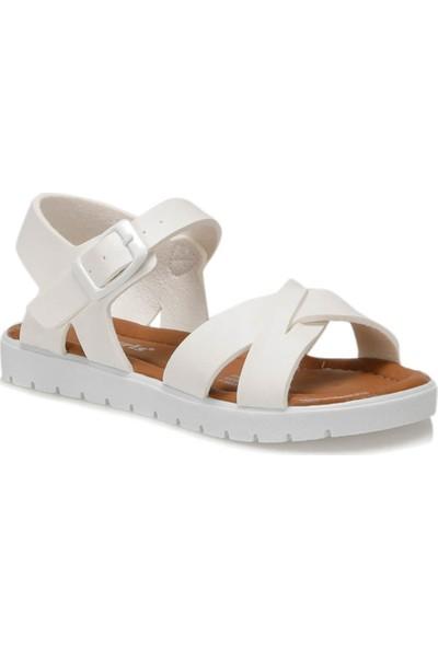 Polaris 91.508159.P Beyaz Kız Çocuk Sandalet