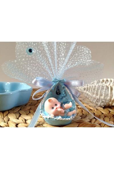 Cemrek Karlı Tüllü Kundak Bebek Biblolu Bebek Şekeri (25 Adet)