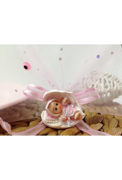 Cemrek Kanat Arasında Bebek Biblolu Bebek Şekeri (25 Adet)