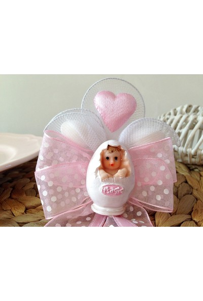 Cemrek Yumurtadan Çıkan Bebek Biblolu ve Kalpli Bebek Şekeri (25 Adet)
