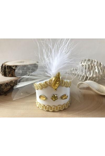 Cemrek Sarı Sünnet Şapkası Sünnet Şekeri (25 Adet)