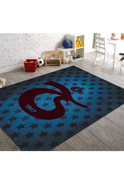 Veronya Trabzonspor Desenli Kaymaz Taban Çocuk Odası Halısı 60x100 cm
