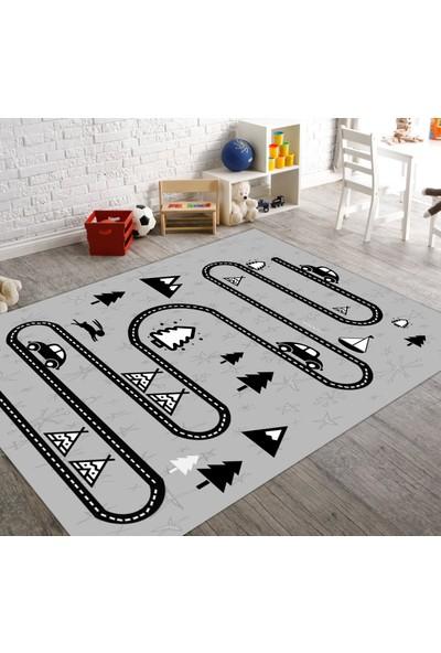 Veronya Yol Desenli Kaymaz Taban Çocuk Halısı 60x100 cm