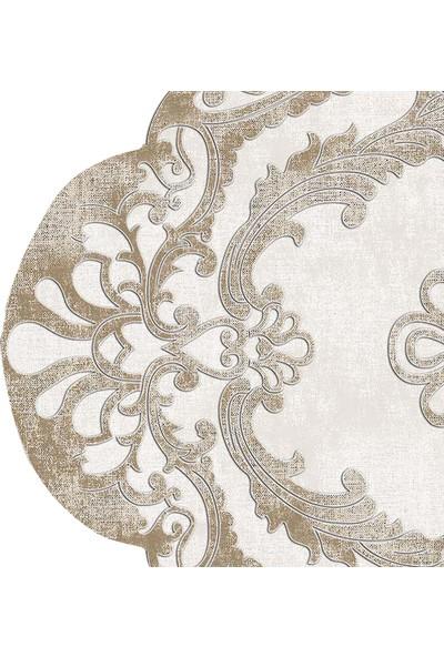 Dekoreko Figürlü Özel Kesim Halı 107 Bej ( 80 X 200 )