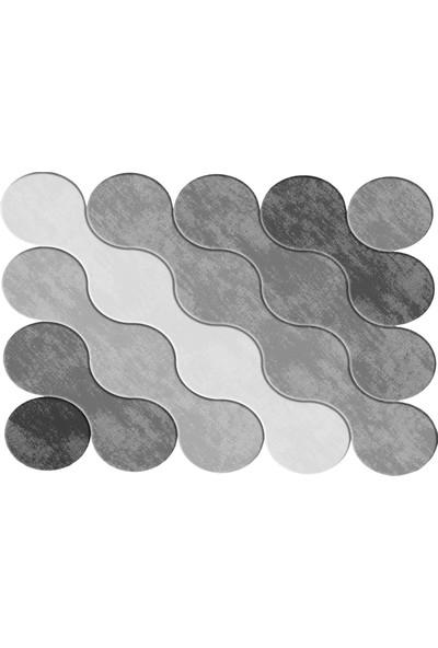 Dekoreko Figürlü Özel Kesim Halı 117 Gri ( 80 X 300 )