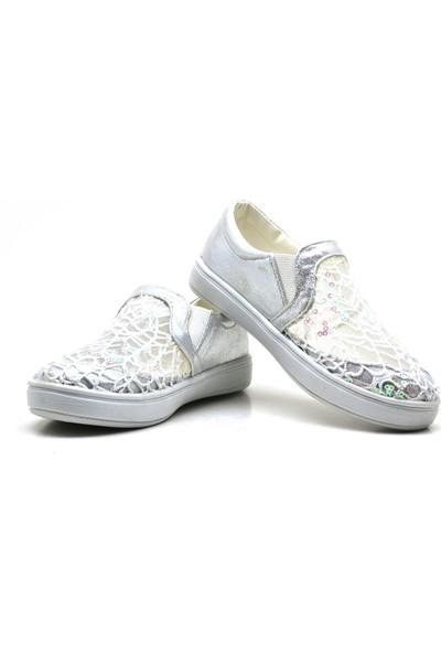 Sarıkaya Yüksek Taban Gümüş Kız Çocuk Günlük Ayakkabı