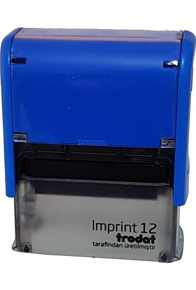 Trodat Imprint 12 Kişiye Özel Firma Ve Şirket Kaşeleri Baskı Rengi Mavi
