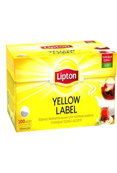 Lipton 100 Adet Demlik Poşet Çay Yellow Label 16'lı Set