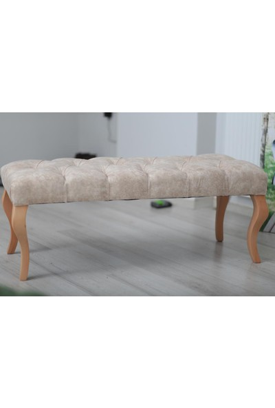 Esertrade Ahşap Ayaklı Puf/Bench