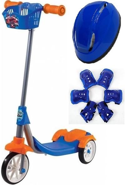 Can Hotwheels Scooter Kask Dizlik Dirseklik Full Set