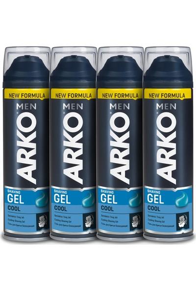 Arko Men Cool Tıraş Jeli 4'lü Paket 200 ml